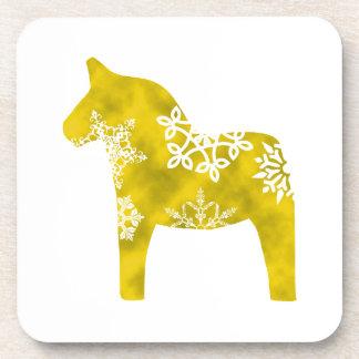 Dala Horse Snowflake Coaster