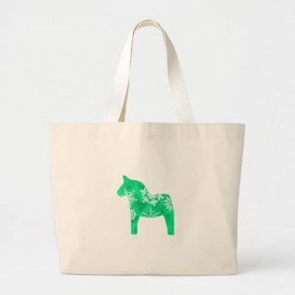 Dala Horse Snowflake Large Tote Bag