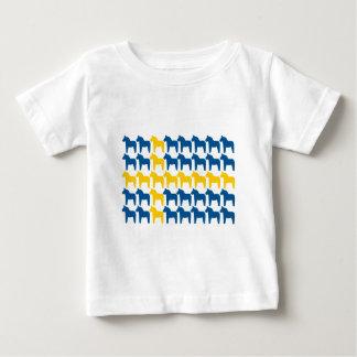 Dala Horse Sweden Flag Baby T-Shirt