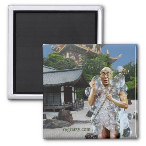 Dalai Gaga Fridge Magnet