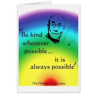 Dalai Lama: Be Kind Card