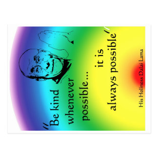 Dalai Lama Be Kind Post Card