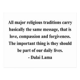 dalai lama quote 12a postcard