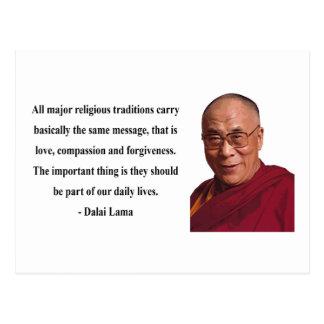 dalai lama quote 12b postcard