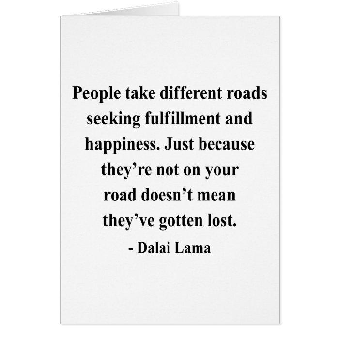 dalai lama quote 1a greeting card