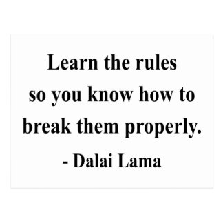 dalai lama quote 2a postcard