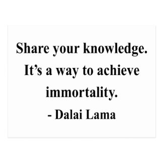 dalai lama quote 5a postcard