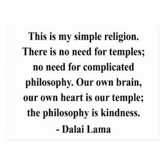 dalai lama quote 6a postcard
