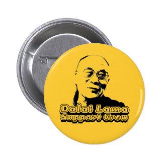 Dalai Lama Support Crew 6 Cm Round Badge