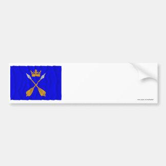 Dalarnas län waving flag bumper sticker