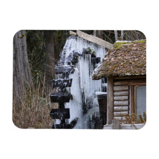 Dalby Waterwheel Frozen Rectangular Photo Magnet