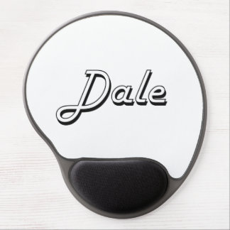 Dale Classic Retro Name Design Gel Mouse Pad