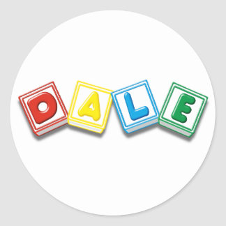 Dale Round Sticker