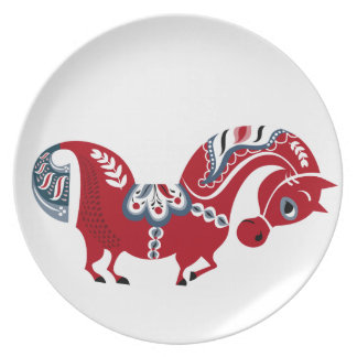 Dalecarlian horse big plate