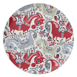 Dalecarlian horse standards dinner plates