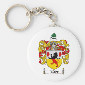 DALEY FAMILY CREST -  DALEY COAT OF ARMS KEY RING