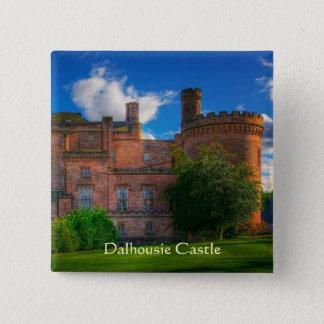 Dalhousie Castle, Midlothian, Scotland 15 Cm Square Badge