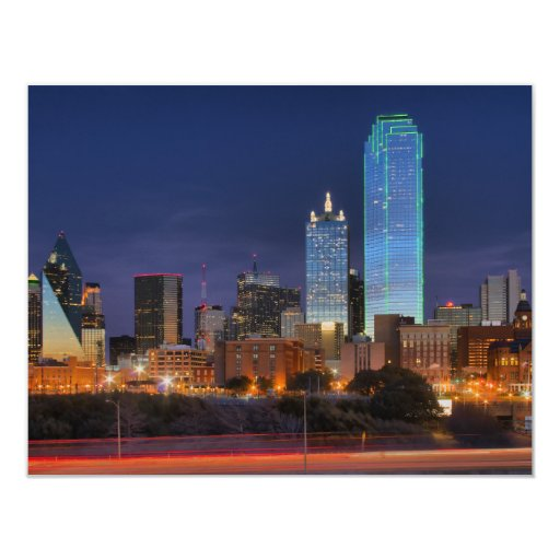 Dallas #5433 11 cm x 14 cm invitation card