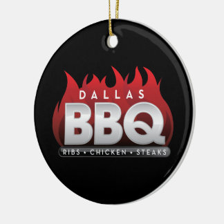 Dallas BBQ  Circle Ornament