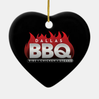 Dallas BBQ Heart Ornament