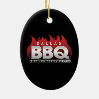 Dallas BBQ Oval Ornament