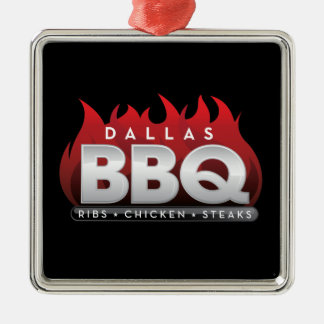 Dallas BBQ Premium Square Ornament