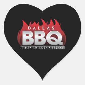Dallas BBQ Unique Style Stick Heart Sticker