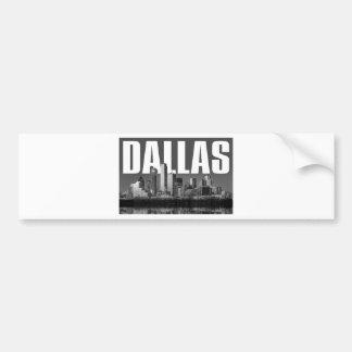 Dallas Cityscape Bumper Sticker