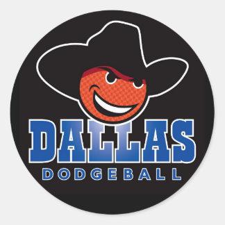 Dallas Dodgeball Logo Stickers