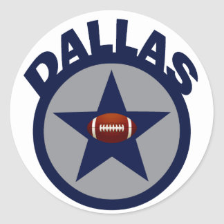 DALLAS FOOTBALL CLASSIC ROUND STICKER