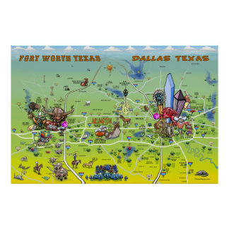 Dallas Fort Worth Poster