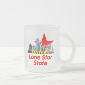 DALLAS FROSTED GLASS MUG