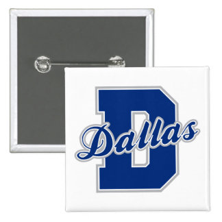 Dallas Letter 15 Cm Square Badge