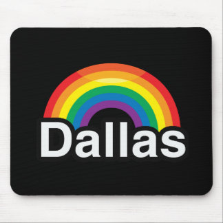 DALLAS LGBT PRIDE RAINBOW MOUSE PAD