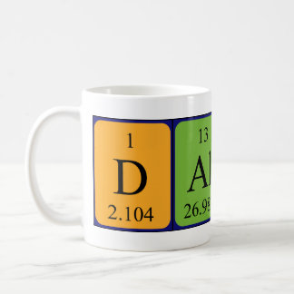 Dallas periodic table name mug