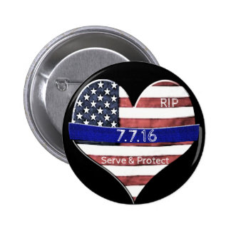 Dallas Police Memorial 6 Cm Round Badge