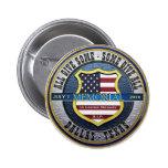 Dallas Police Thin Blue Line Memorial 6 Cm Round Badge