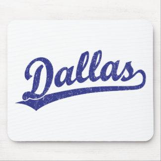 Dallas script logo in blue mousepads