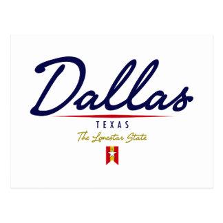 Dallas Script Postcard