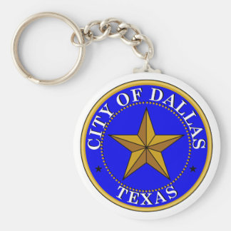 Dallas Seal Basic Round Button Key Ring