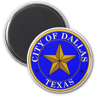 Dallas Seal 6 Cm Round Magnet