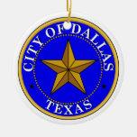 Dallas Seal Round Ceramic Decoration