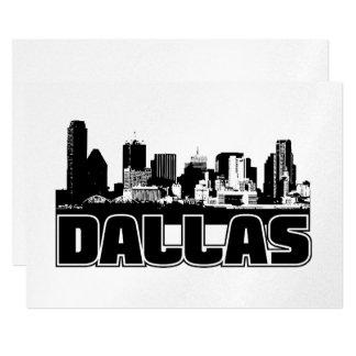Dallas Skyline 13 Cm X 18 Cm Invitation Card