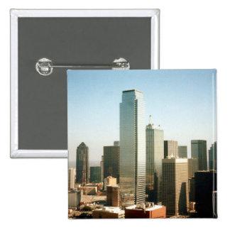Dallas Skyline 15 Cm Square Badge