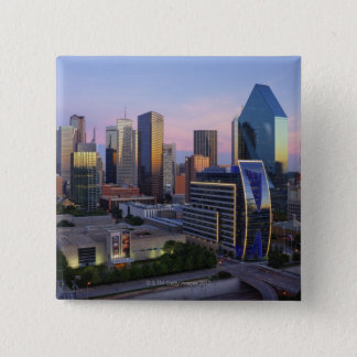 Dallas Skyline 15 Cm Square Badge