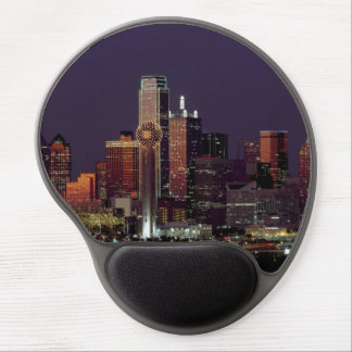 Dallas Skyline at Night Gel Mouse Pad