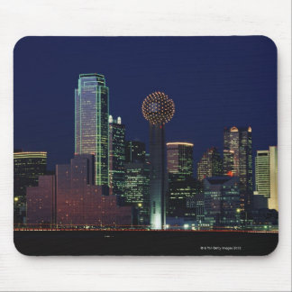 Dallas Skyline at Night Mouse Mat