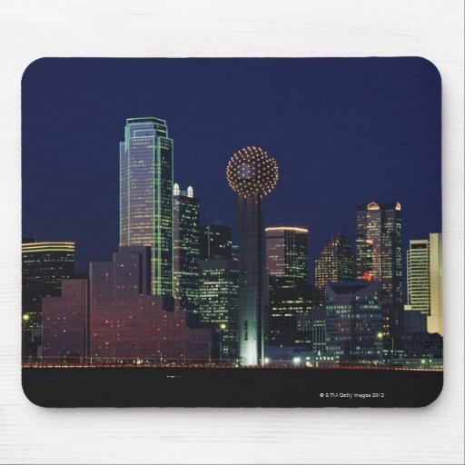Dallas Skyline at Night Mousepads