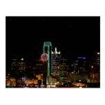 Dallas Skyline at Night Postcards