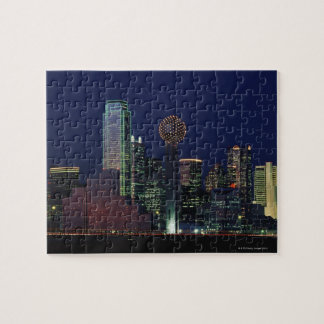 Dallas Skyline at Night Puzzle